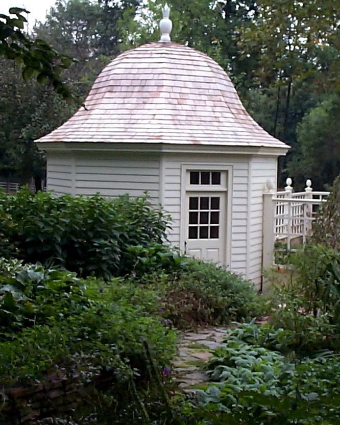 Domed garden shed